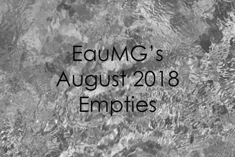August 2018 Empties