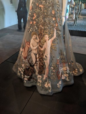 Valentino Adam and Eve dress at the Cloisters