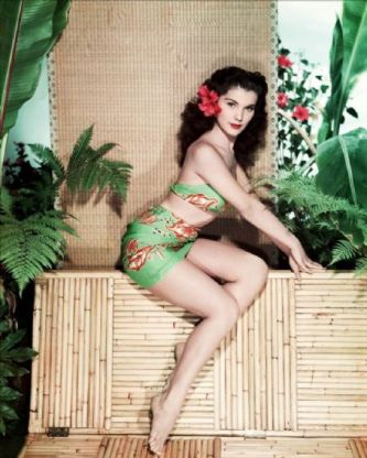 Debra Paget tropical