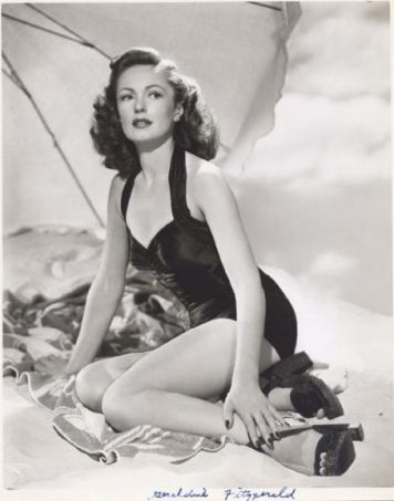 Geraldine Fitzgerald at the beach