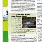 Jeune Afrique d'Octobre 2008 Mauritanie : première mondiale dans l'énergie solaire