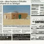 Nice-Matin du 27 juillet 2009 EauNergie : deux bureaux d'étude en Mauritanie et au Sénégal