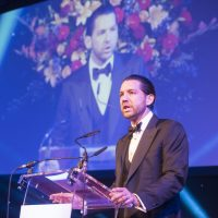 Josh Cote offers speech at 2016 ball