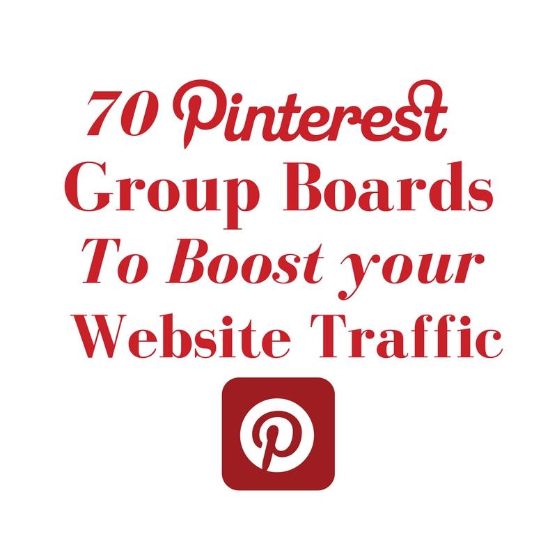 70 pinterest Boards which boosts your website traffic