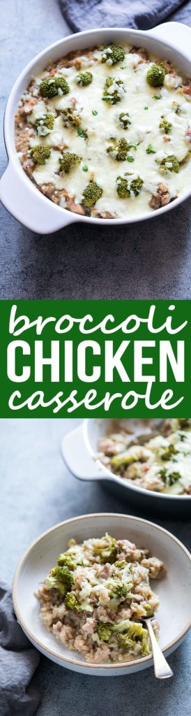 Broccoli Chicken Cheese Casserole with Rice