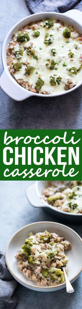 Broccoli Chicken Cheese Casserole with Rice