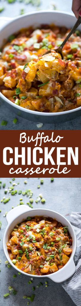 Easy to make buffalo chicken casserole