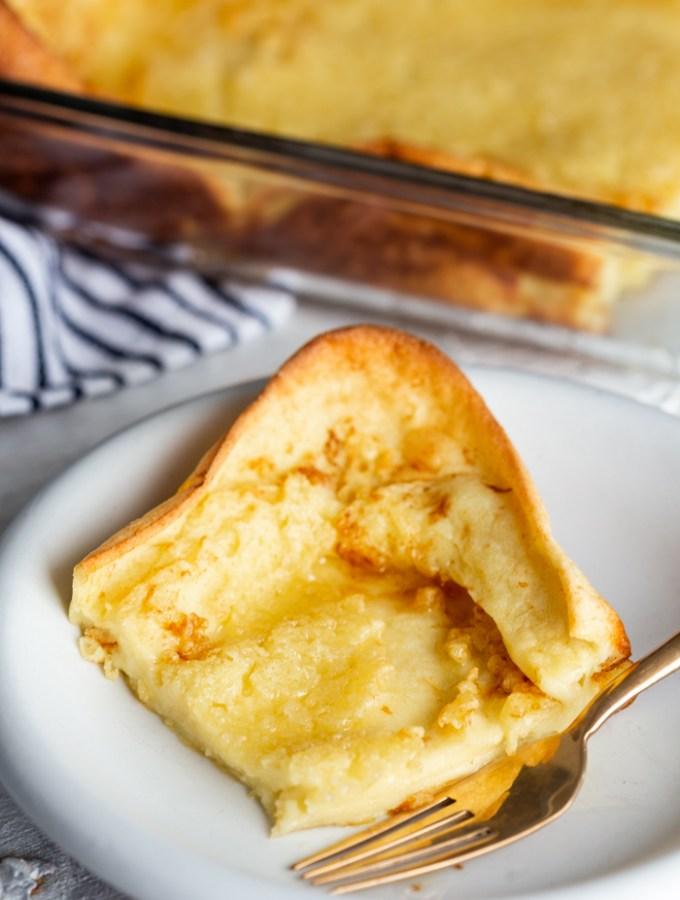 A delicious german pancake breakfast, dutch babies or puff pancakes