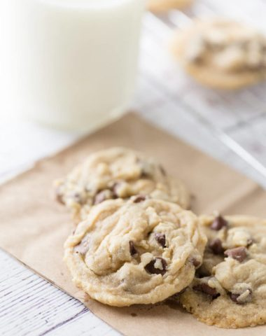 Easy, chewy, delicious chocolate chip cookies. These are my favorite easy to bake chocolate chip cookies