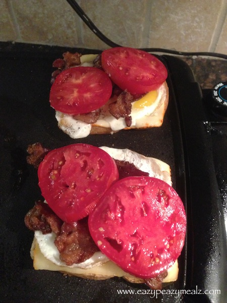 BLT fried egg sandwich