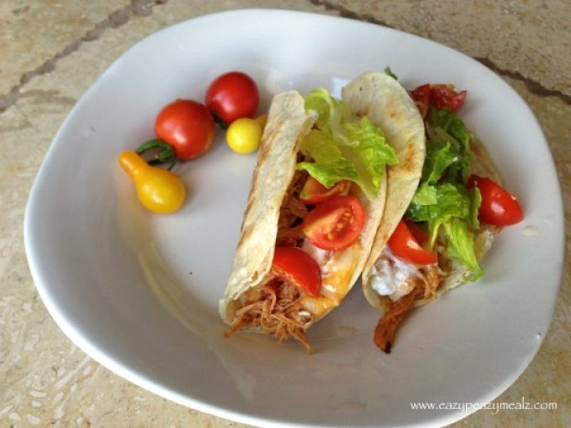 barbeque chicken tacos crockpot