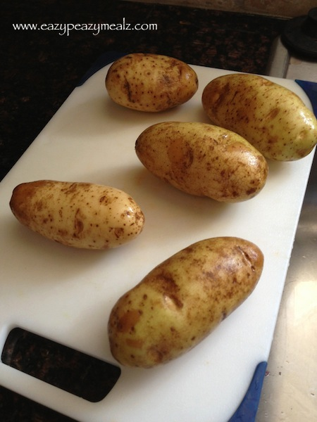 washed potatoes