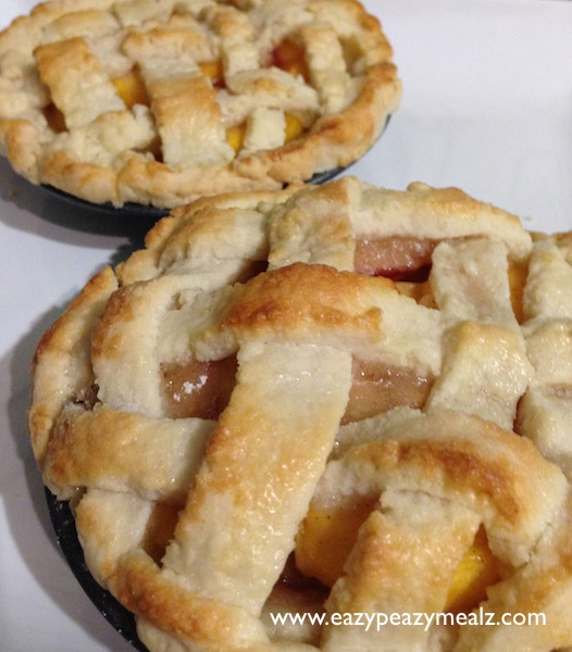 baked peach pie