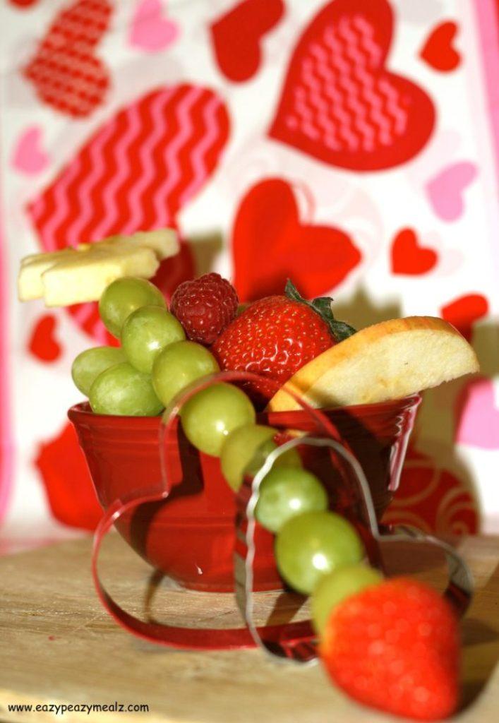 fruit kabob Valentine's Day
