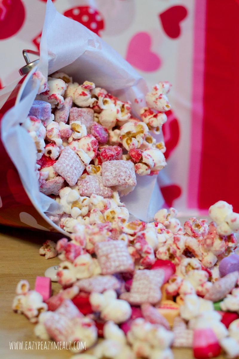 Valentine S Day Popcorn Snack Mix Easy Peasy Meals