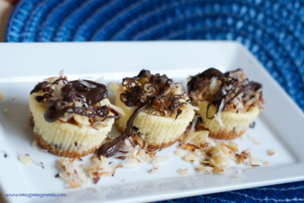 mini cheesecake almond joy