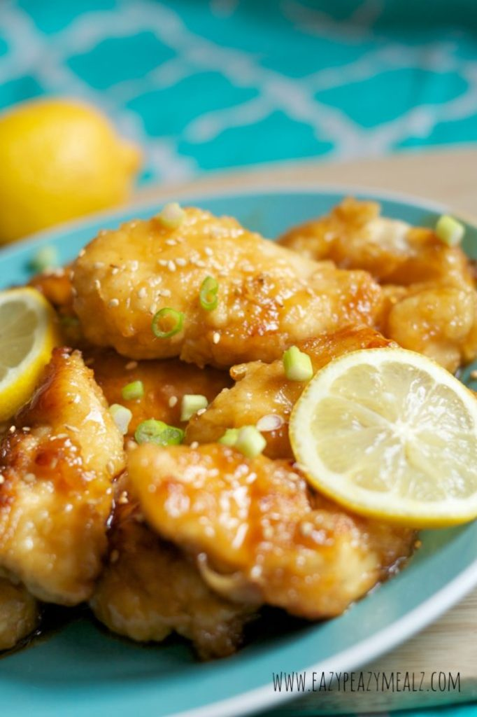 Asian Lemon Chicken: Lemon Chicken that is delicious and easy to make, with just the right sweet and tangy! Not too much sweet and not too much vinegar.