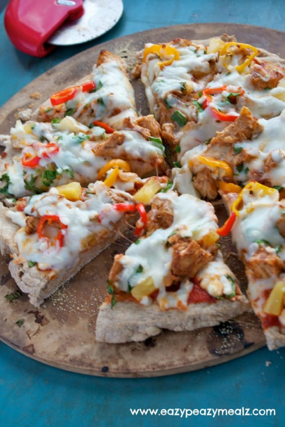 Whole Wheat BBQ Chicken Pizza
