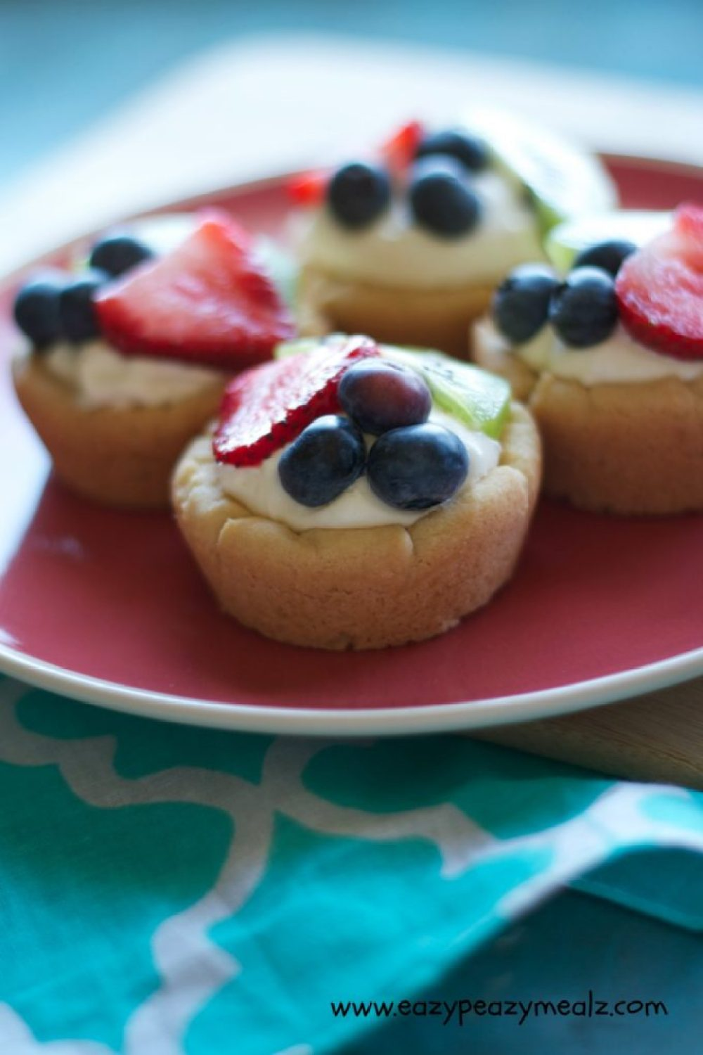 fruit tart with sugar cookie cup