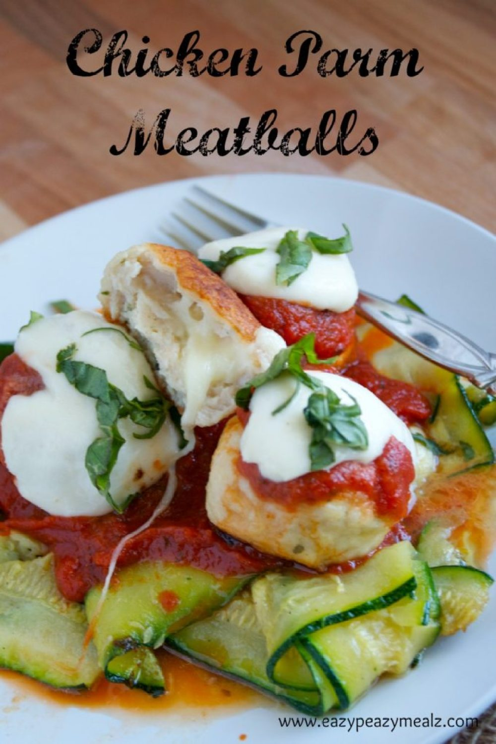 mozz stuffed chicken parm meatballs