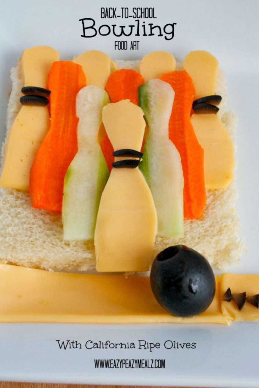 Back to school bowling food art