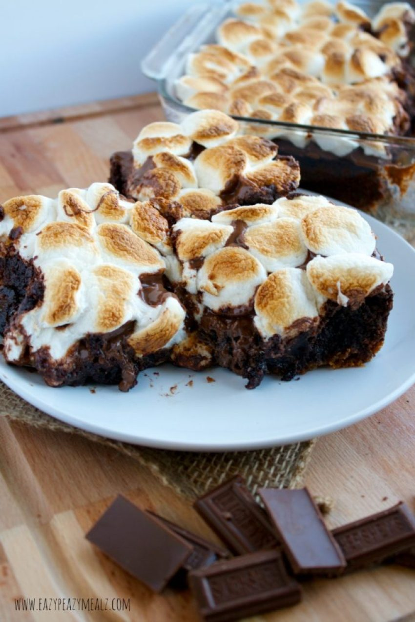 brownies smores