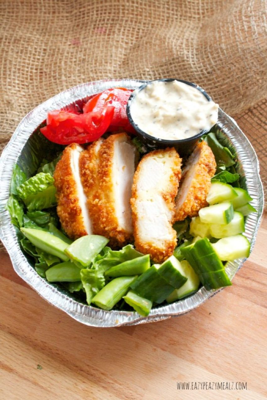 chop fried chicken salad