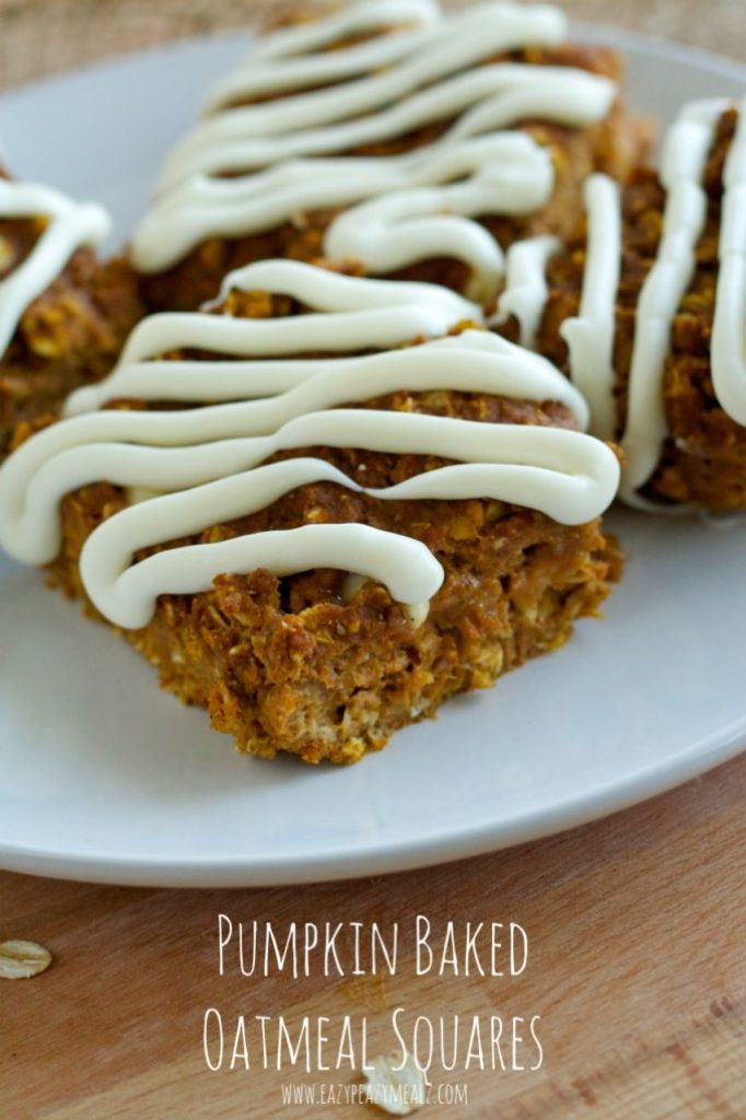 A fantastic oatmeal bar that is pumpkin flavored with white chocoalte chips