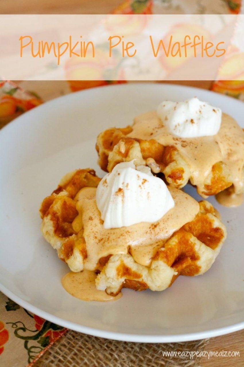 pumpkin pie waffle recipe