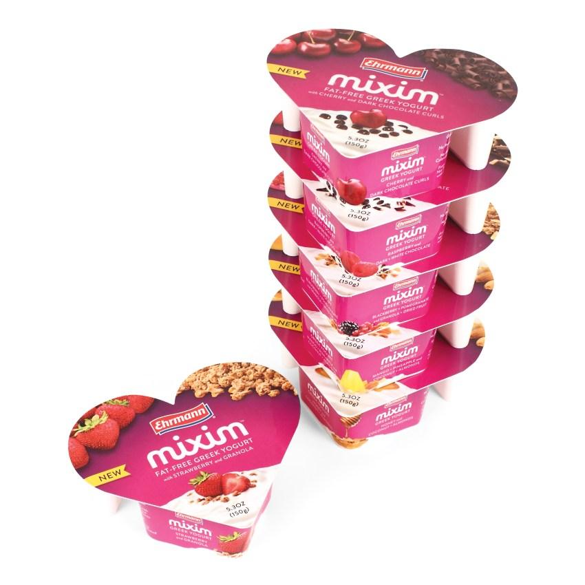 Mixim Greek Yogurts individual with stack