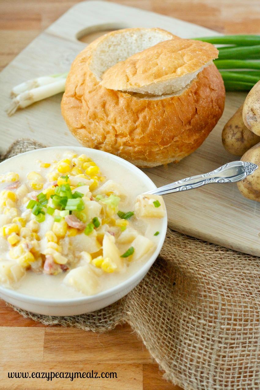corn chowder bowl