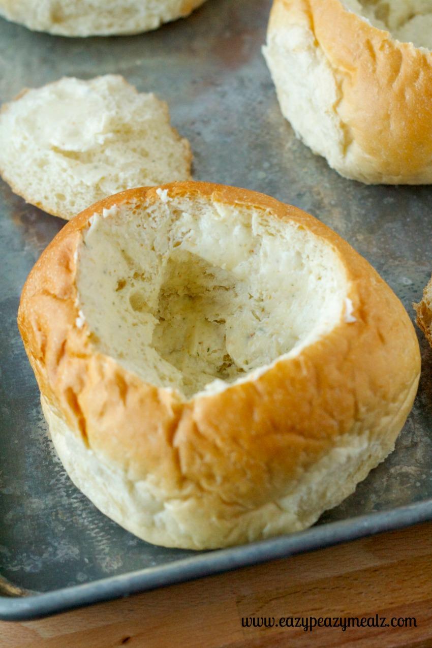 garlic bread bowl