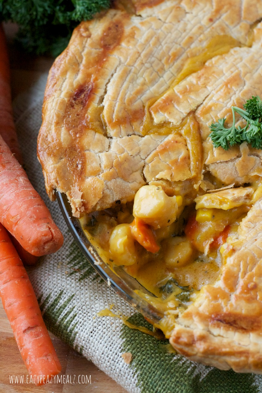 Seafood Pot Pie with Gluten free crust and filling