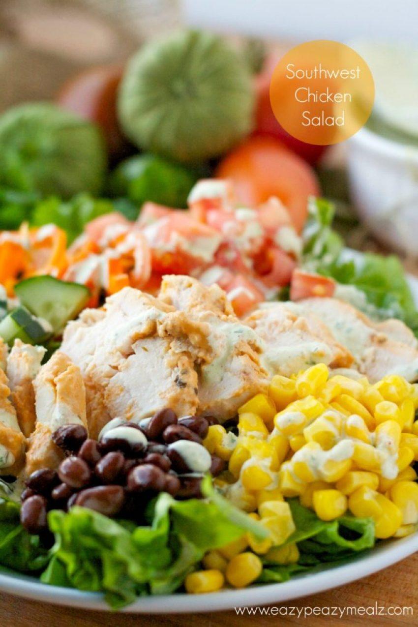 Southwest chicken salad, a delicious summer dinner salad