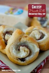 cheesy havarti dill breakfast roll up #havartiholiday