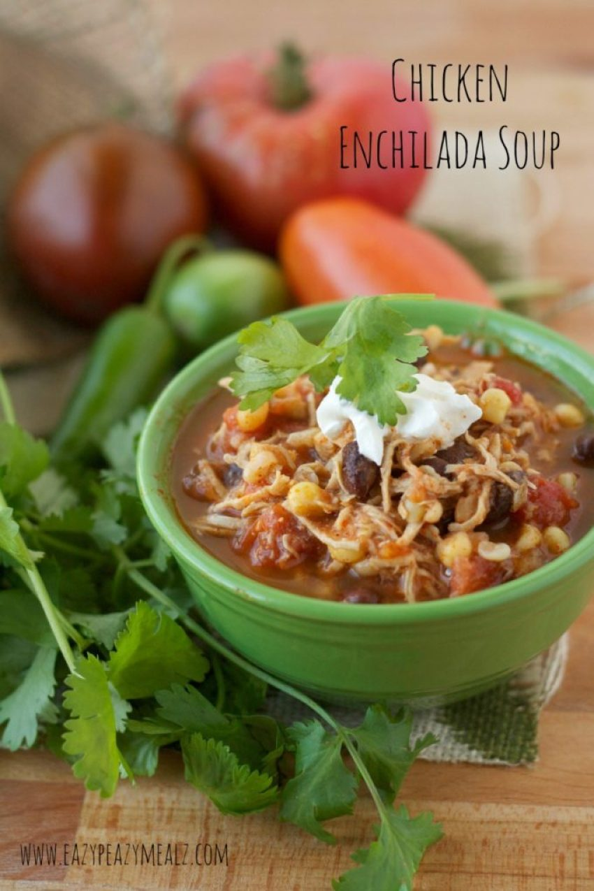 chicken enchilada soup #healthy #soup #mexican
