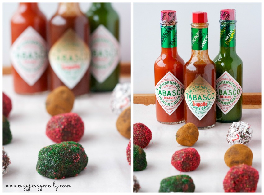hot chocolate truffles with chipotle tabasco