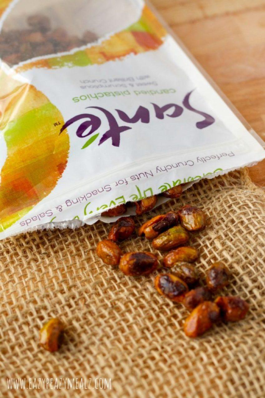 healthy, sante nuts, quick lunch, healthy fish, pistachio