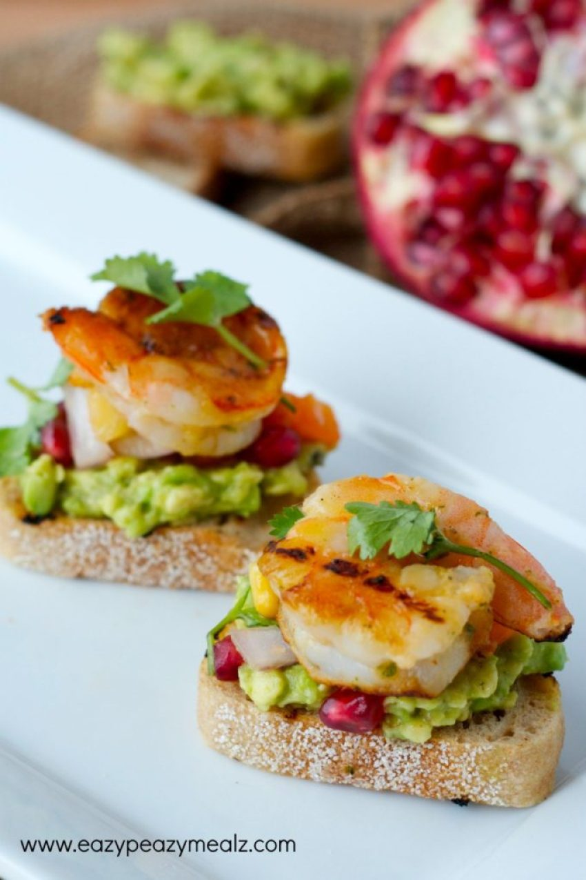 grilled shrimp crostini #appetizer #New Years