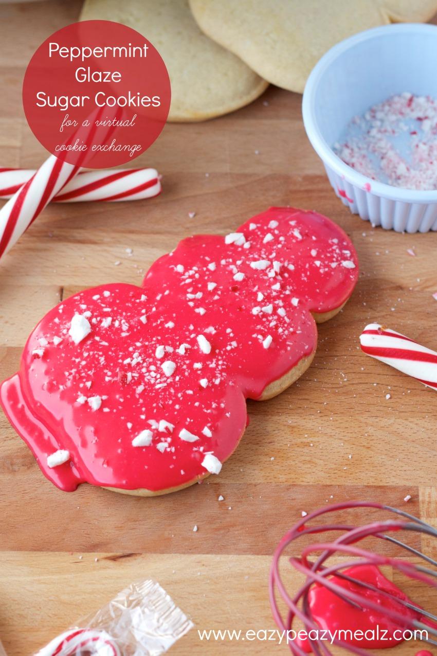peppermint glaze sugar cookies