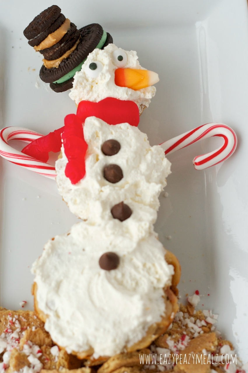 snowman cheesecakes #snowman