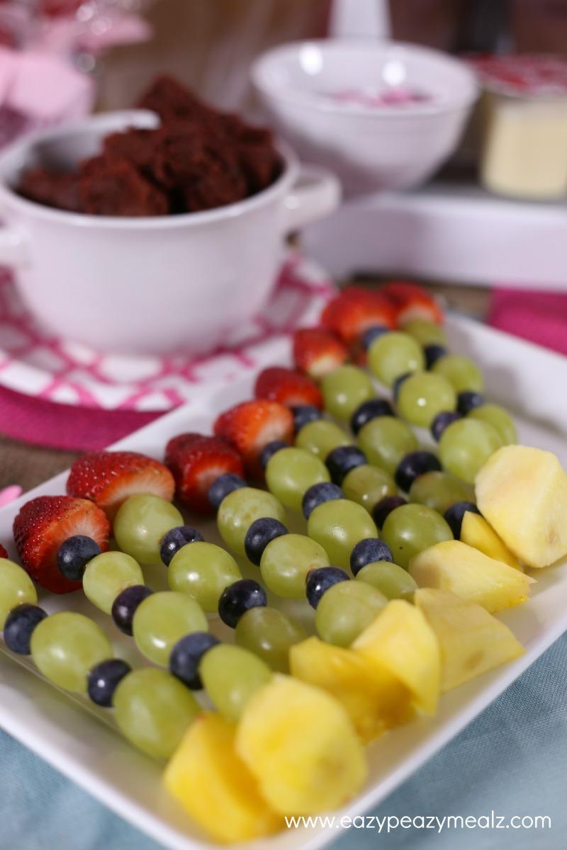 Valentine's Fruit Kabobs