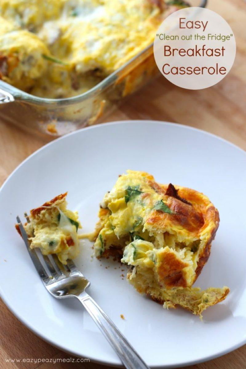 clean out the fridge breakfast casserole #breakfast