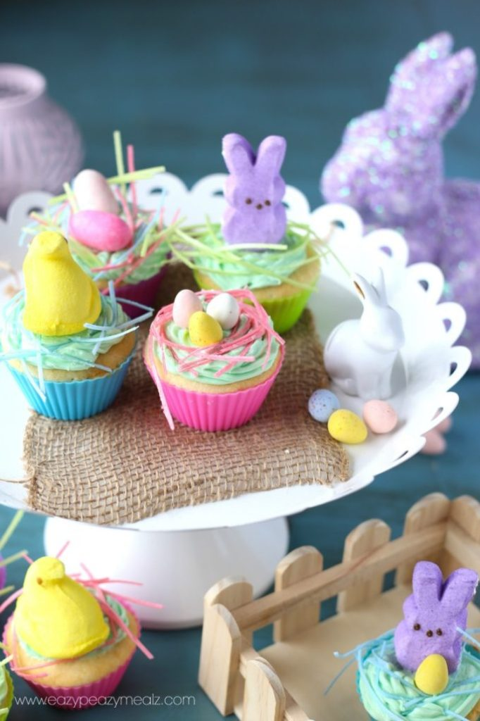 bunny peep cupcakes