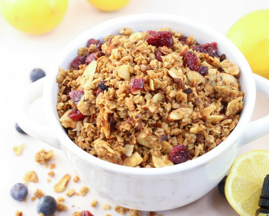 lemon blueberry granola