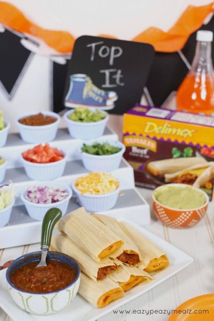 tamales delimex, party food for basketball season