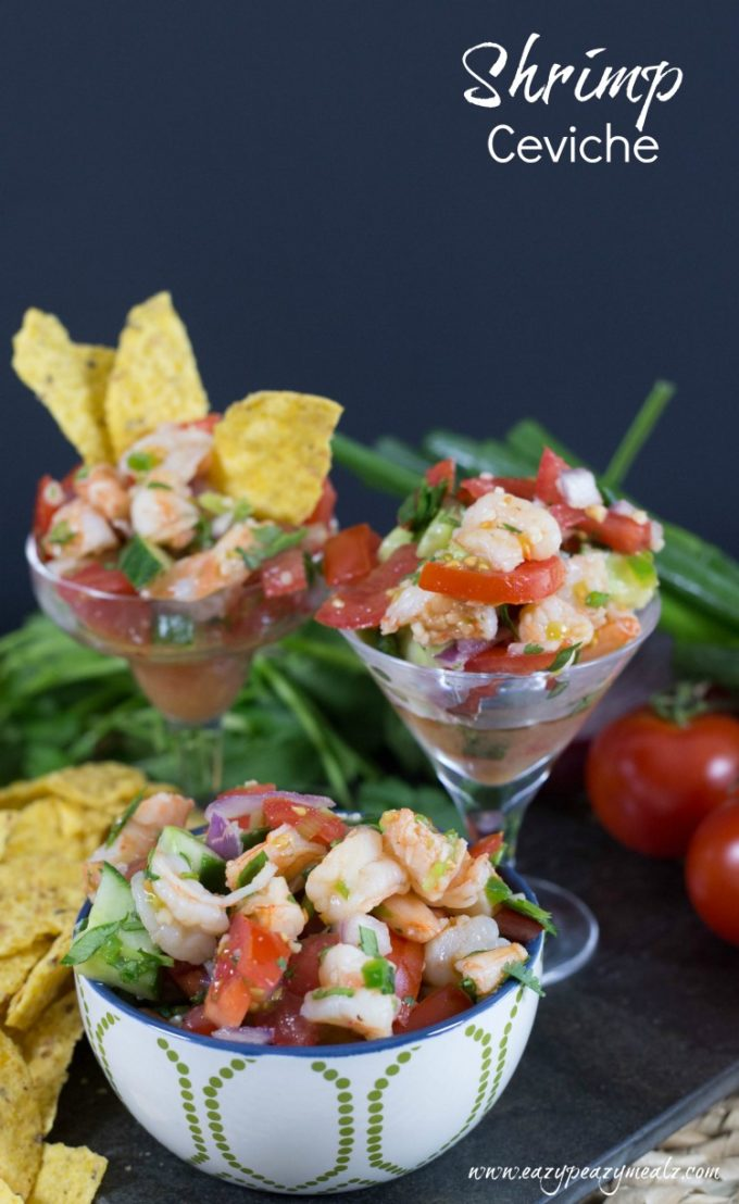 Shrimp ceviche, the perfect appetizer, a delicious seafood dip