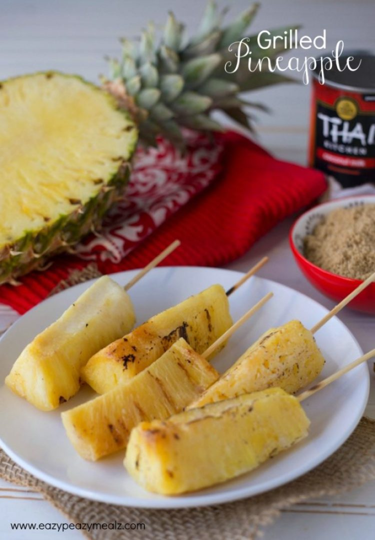 Grilled pineapple skewers, summer grilling, the perfect side to BBQ