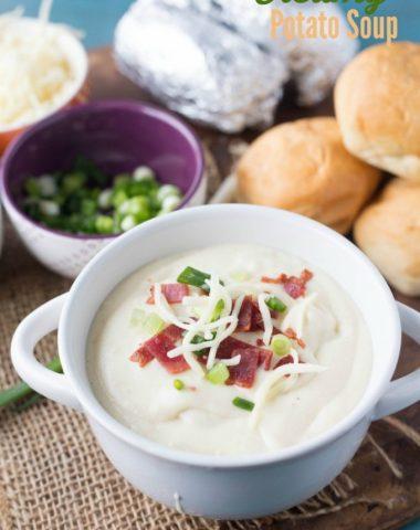 Creamy Potato Soup that has extra protein