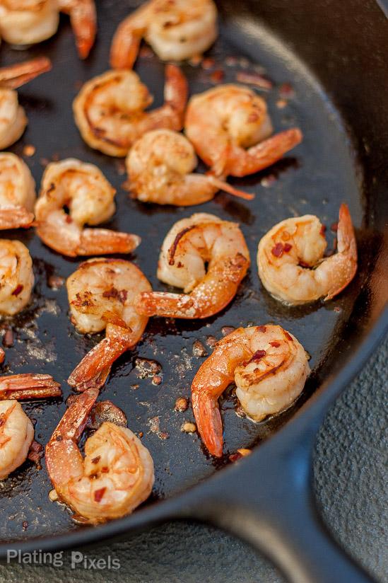 Easy blackened shrimp with mango dipping sauce